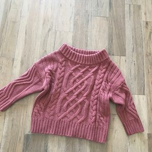 Pink sweater - slightly off shoulder